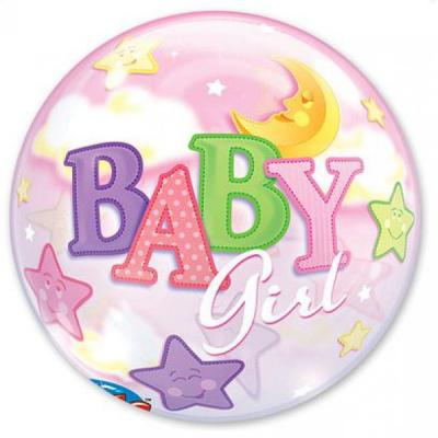 "Шар BUBBLE ""Baby Girl"" 56см"