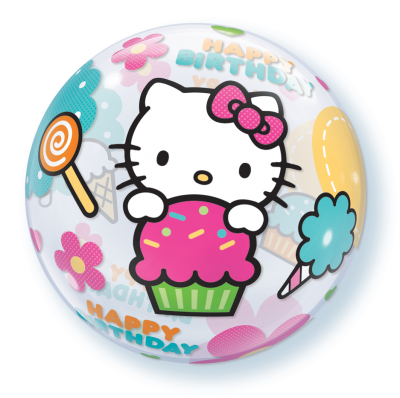 "Шар BUBBLE ""Hello Kitty"" 56см"