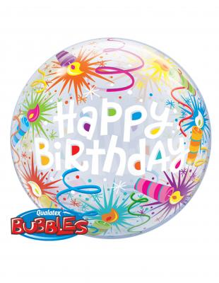 "Шар BUBBLE ""Happy Birthday"" 56см"